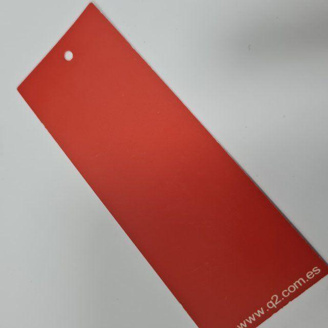 Etiqueta rectangular roja