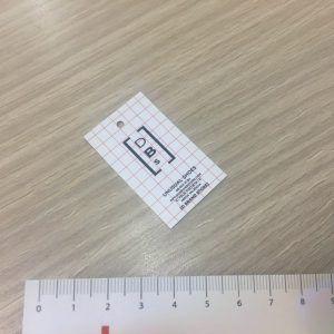 etiqueta colgante cuadrada